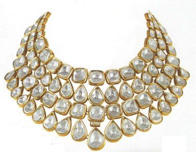 Simple sober Kundan  necklace