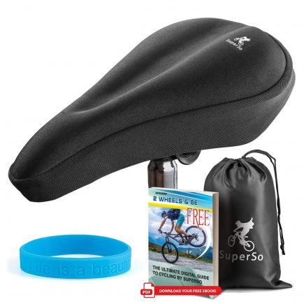Superso Bike Gel Seat Cover Premium Padded Saddle For Passionate Cyclists Bicycle Covers Seat Cushion Covers Bike Cover