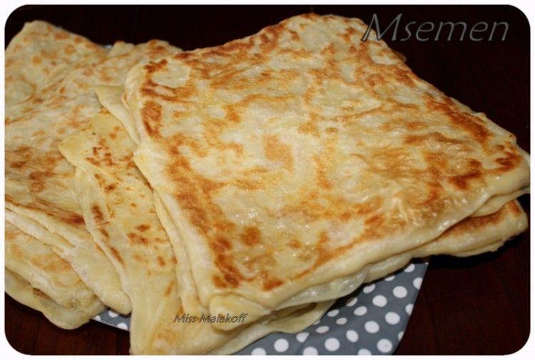 La recette des msemen avec astuce et methode miss for Astuce cuisine facile