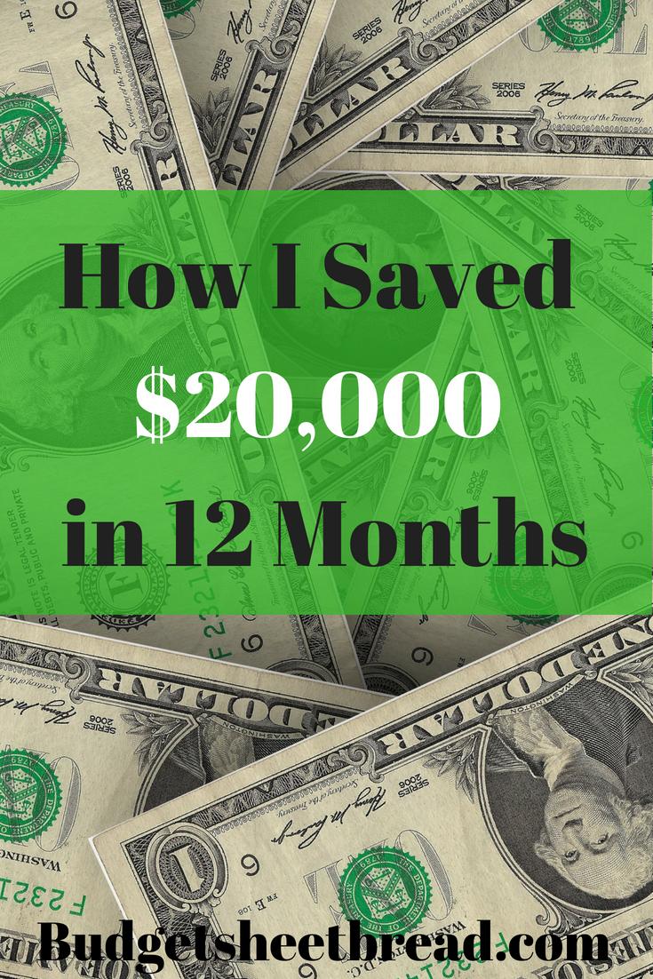 20,000 Net Worth Work anniversary, Save