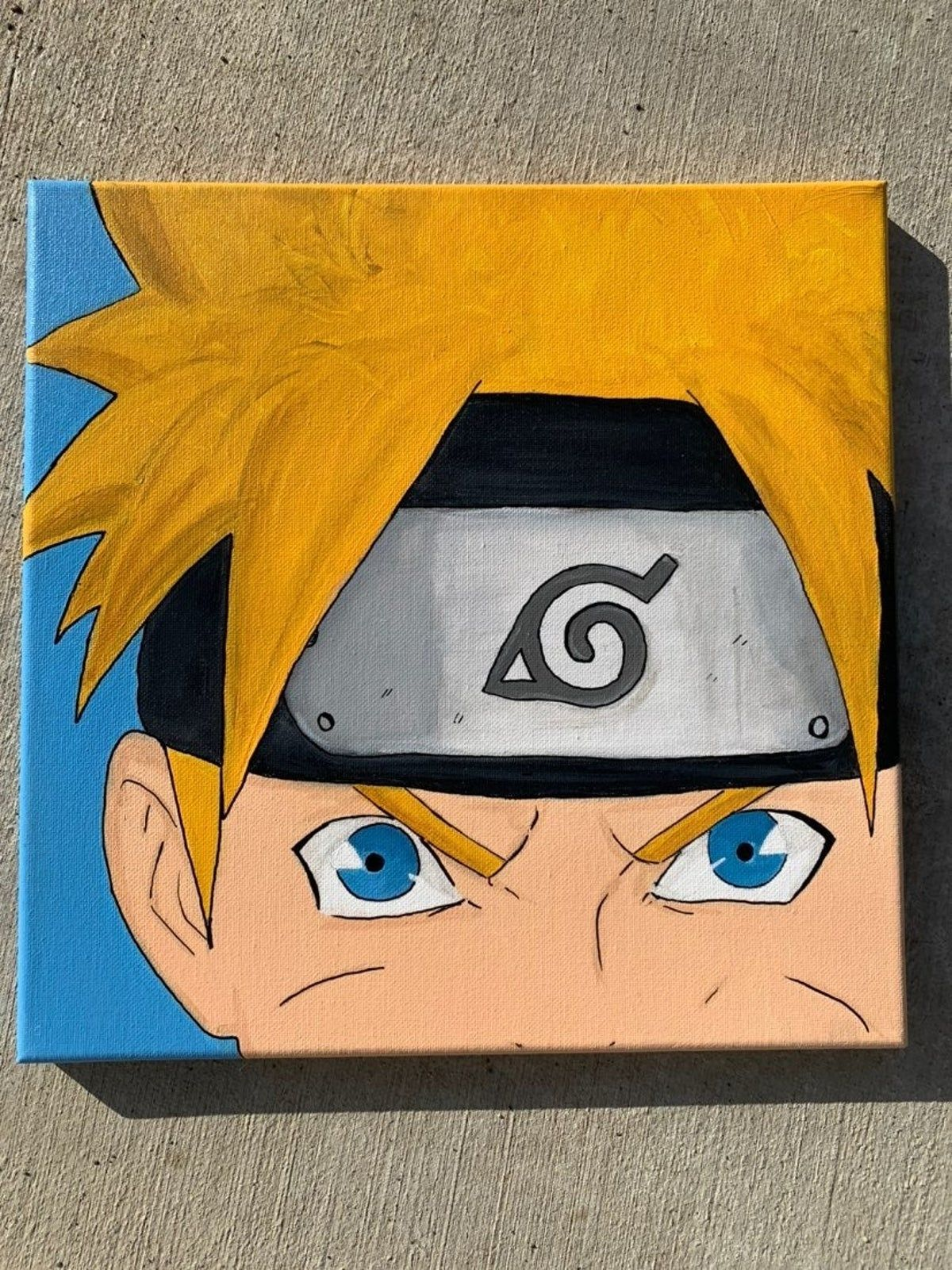 Naruto On Mercari Anime Canvas Art Anime Canvas Painting Disney Canvas Art