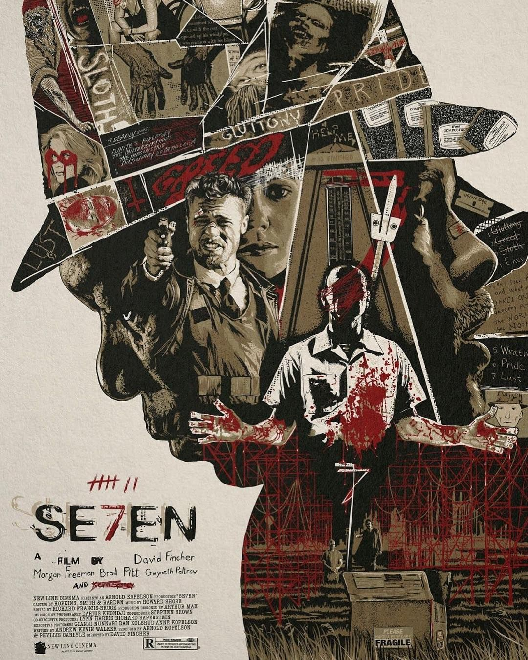 Movies you should be watching: Se7en (1995) // Directed by David Fincher // Starring: Brad Pitt Morgan Freeman Kevin Spacey Gwyneth Paltrow R. Lee Ermey // Why you should be watching? Its a modern day film noir about the decay of morality.  A story of good vs. evil and the question of whether or not good can triumph over evil.  Do we have the strength to overcome the evil inside of us? - The performances are fantastic.  Fincher does an incredible job setting the tone.  This is a dark & gritty film.  If you love taut edge of your seat thrillers youre gonna love this one. // #se7en #davidfincher #bradpitt #morganfreeman #gwenythpaltrow #rleeermey #kevinspacey #moviesyoushouldbewatching #sevendeadlysins #pride #greed #gluttony #envy #sloth #lust #wrath #filmnoir #thriller @gwynethpaltrow