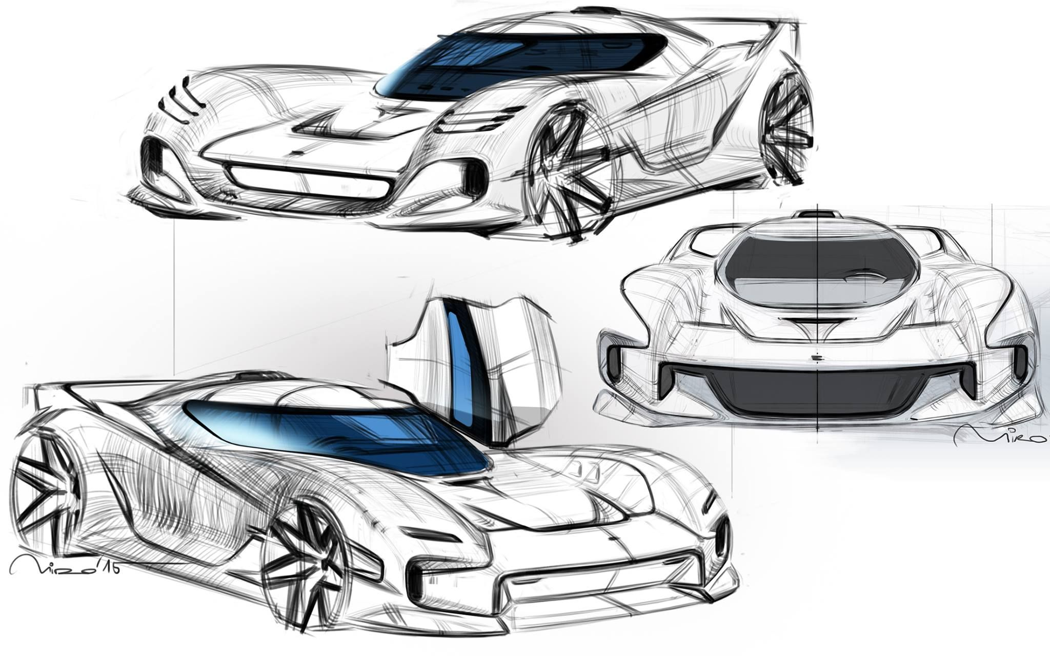 front end development continues #sketch #sportscar #design #car ...