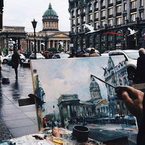 Imagem de art, city, and painting