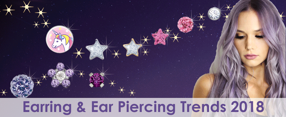 Earring and Ear Piercing Trends 2018: Skin Friendly, Violet and Individual