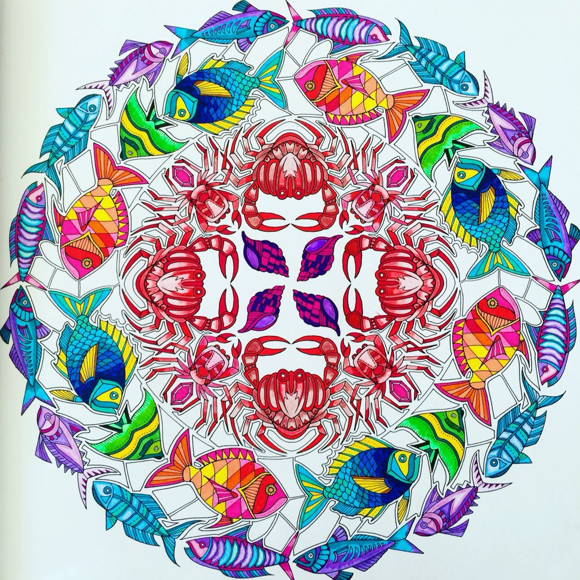 How to color grown up coloring books - Lostocean Coloring Book Join Fb Grown Up Coloring Group I Like To