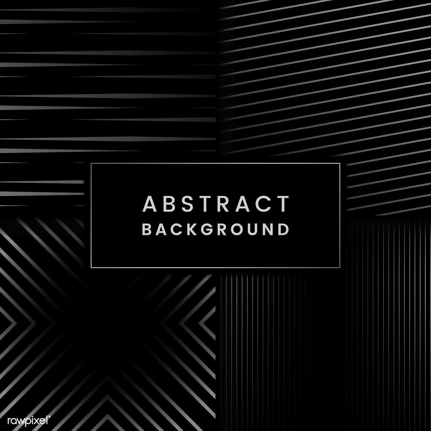 Black And Gray Abstract Background Vector Set Free Image By