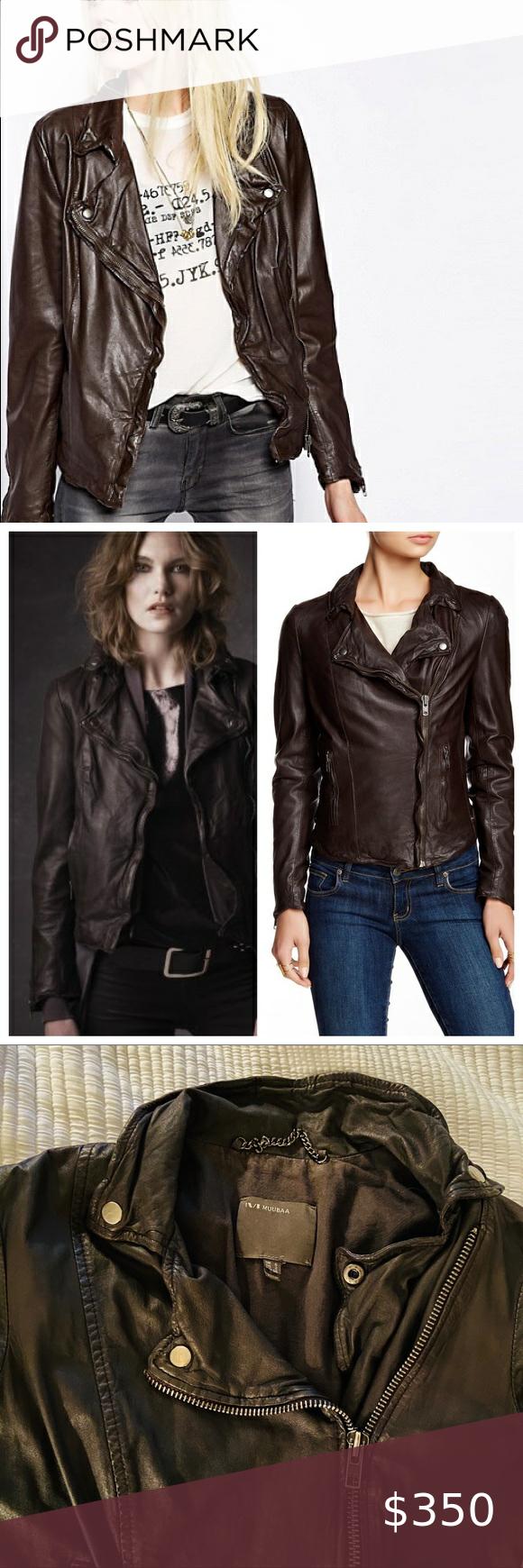 Muubaa Soft Leather Wired Moto Jacket Classic Bodycon Dress Fashion Coats Jackets Women [ 1740 x 580 Pixel ]
