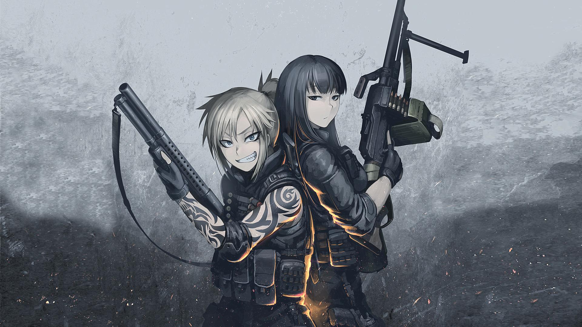 anime machine gun