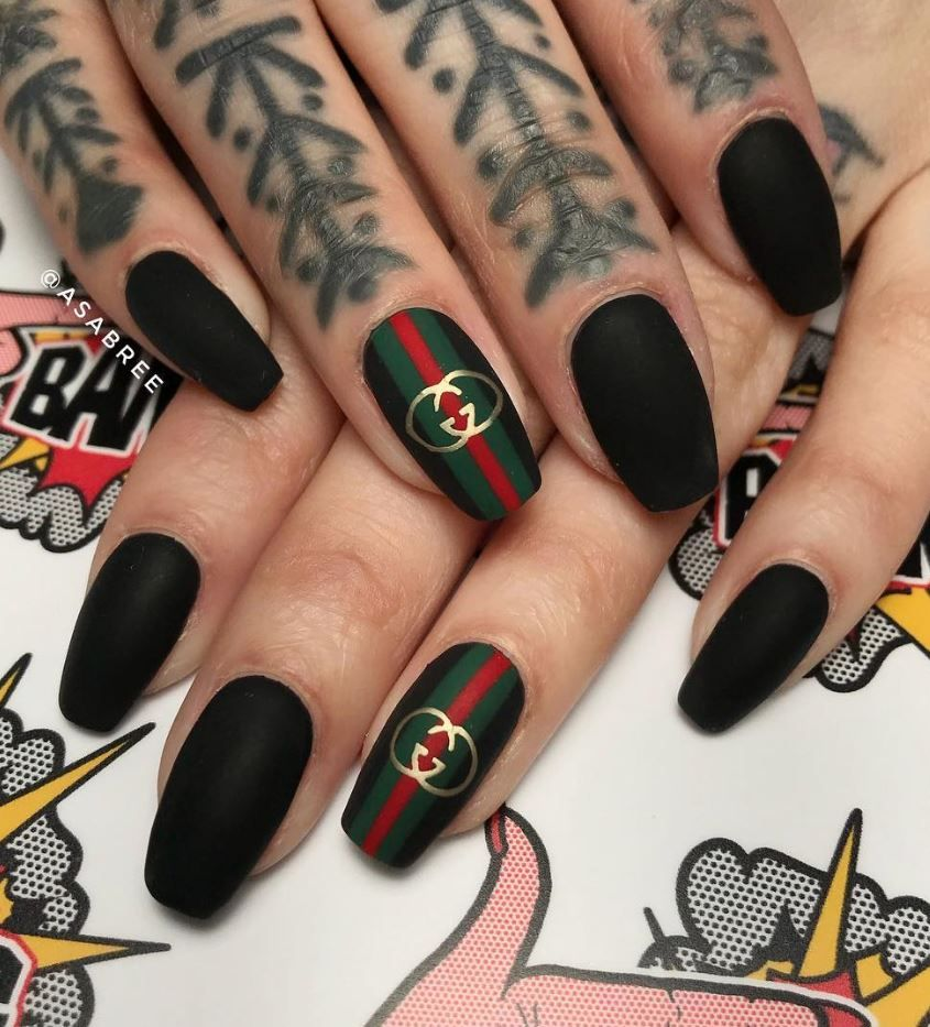 60 Best Colorful Nail Art Designs Shake That Bacon Black Acrylic Nails Best Acrylic Nails Acrylic Nail Designs