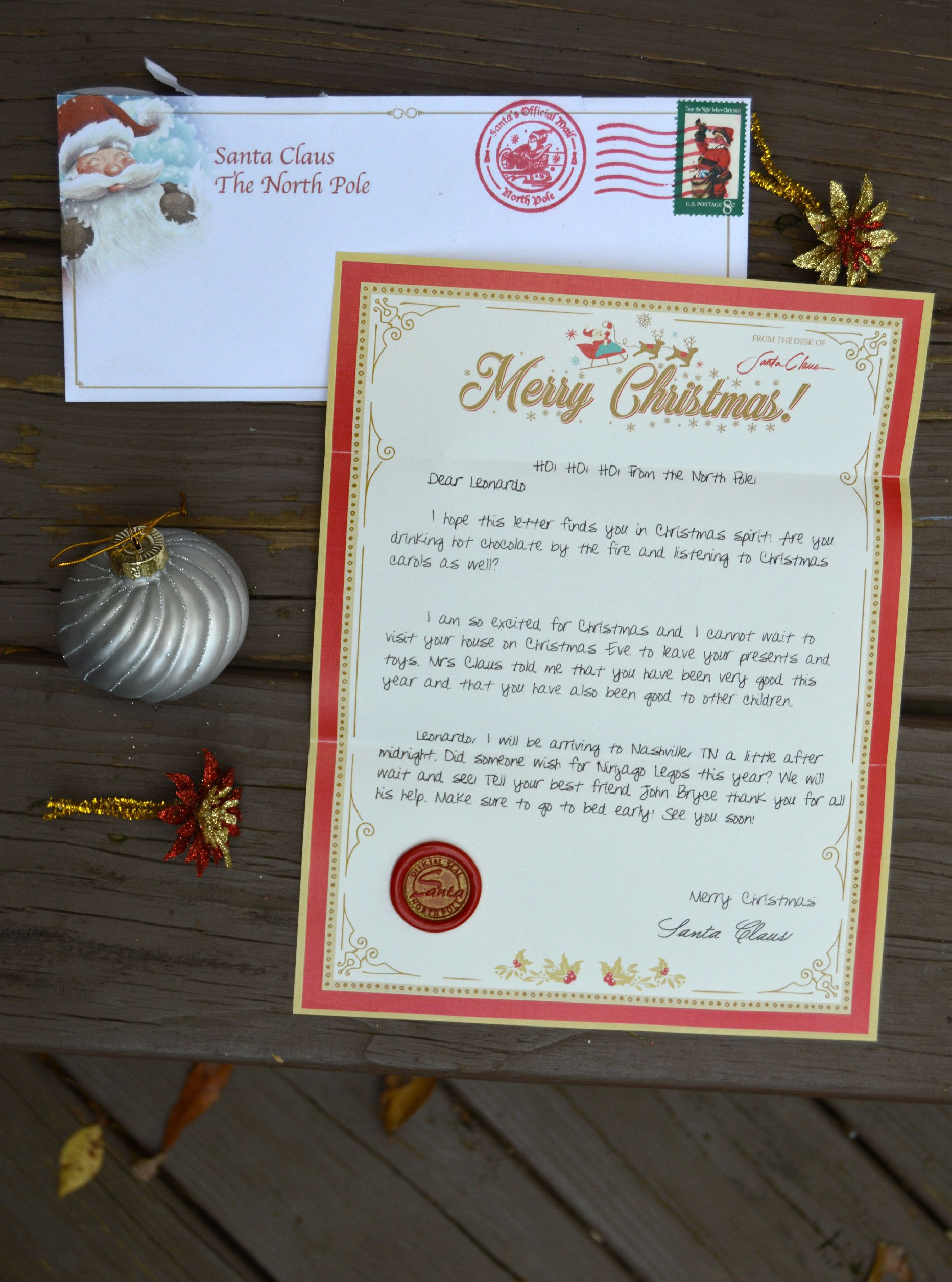 Personalized Christmas Letters From Santa Claus Kids Will Love