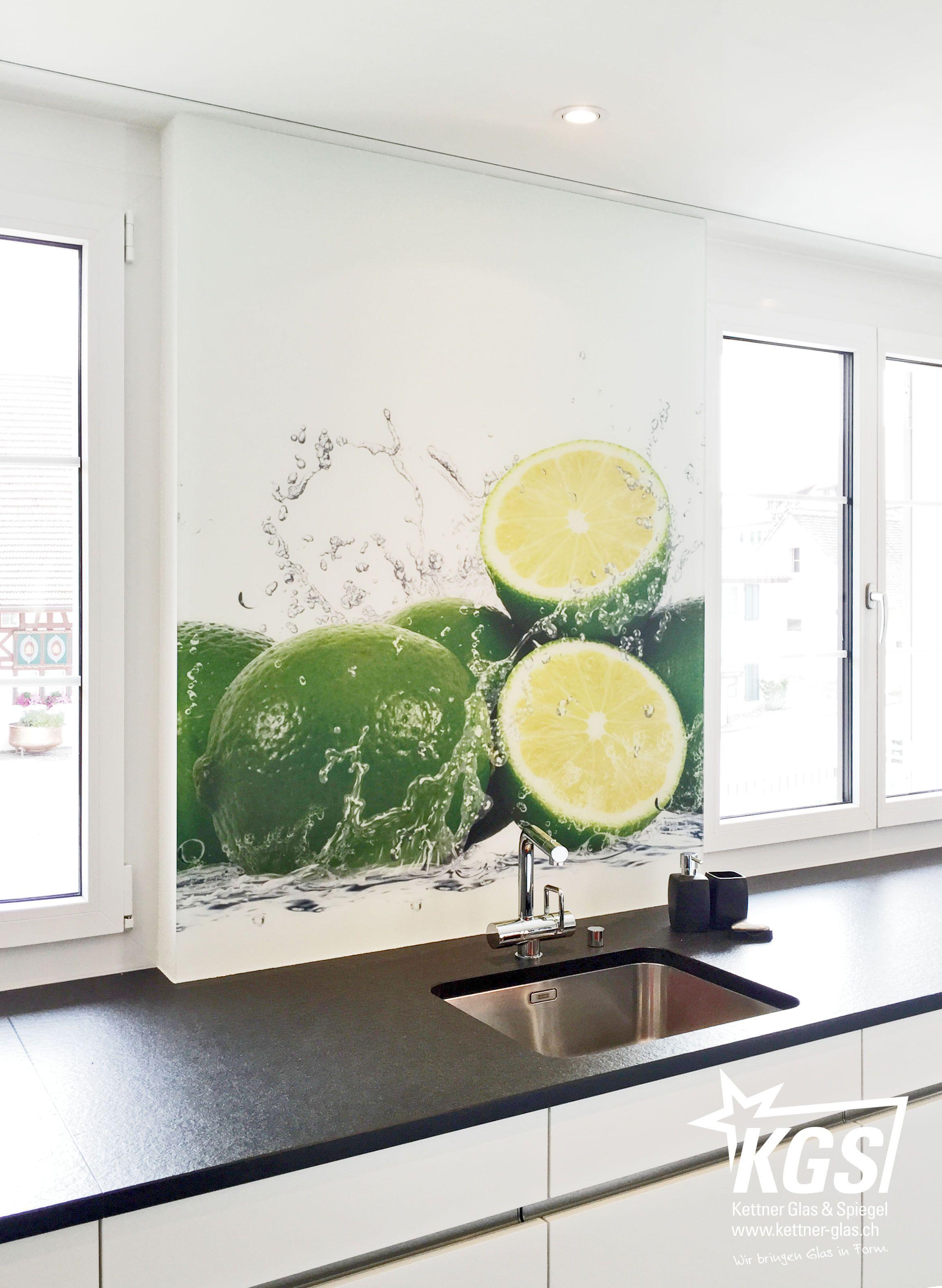 digitaldruck auf #satinato- #diamantglas als #küchenrückwand von