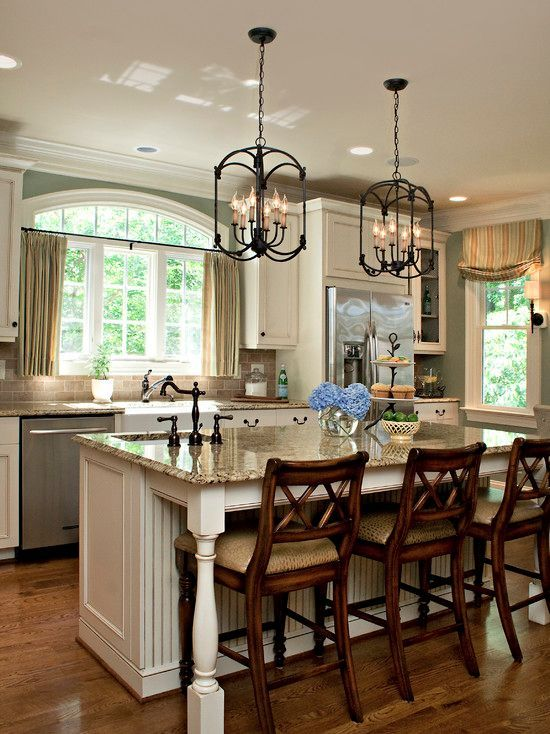 Traditional Kitchen with Ballard designs montgomery counter stool ...