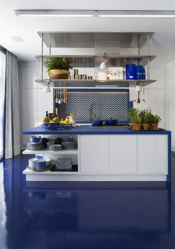 Porcelanato Liquido O Que E Como Faz Fotos E Videos Pisos De Cocina Piso De Porcelanato Ideas De Color De Cocina