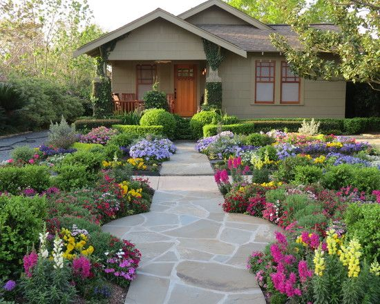 Flower Garden Designs Looks Beautiful Even For Your Front Yard Landcsape :  Gorgeous Flower Garden With