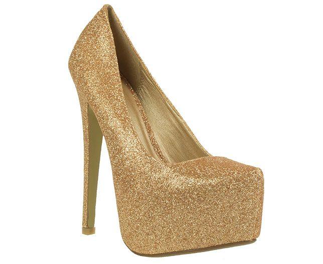 Envy Glitter Trim Concealed Platform Court Shoes