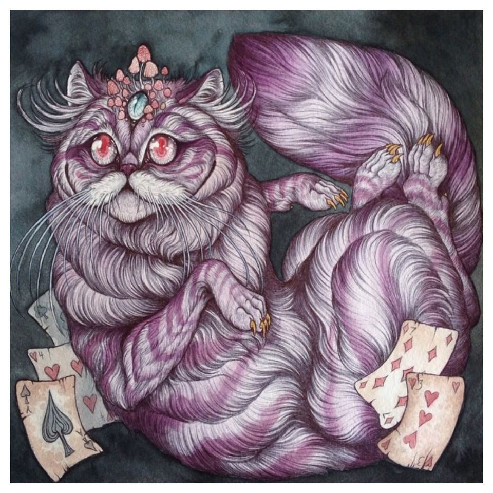 Caitlin Hackett - Alice in Wonderland Cheshire Cat Commission Piece ...