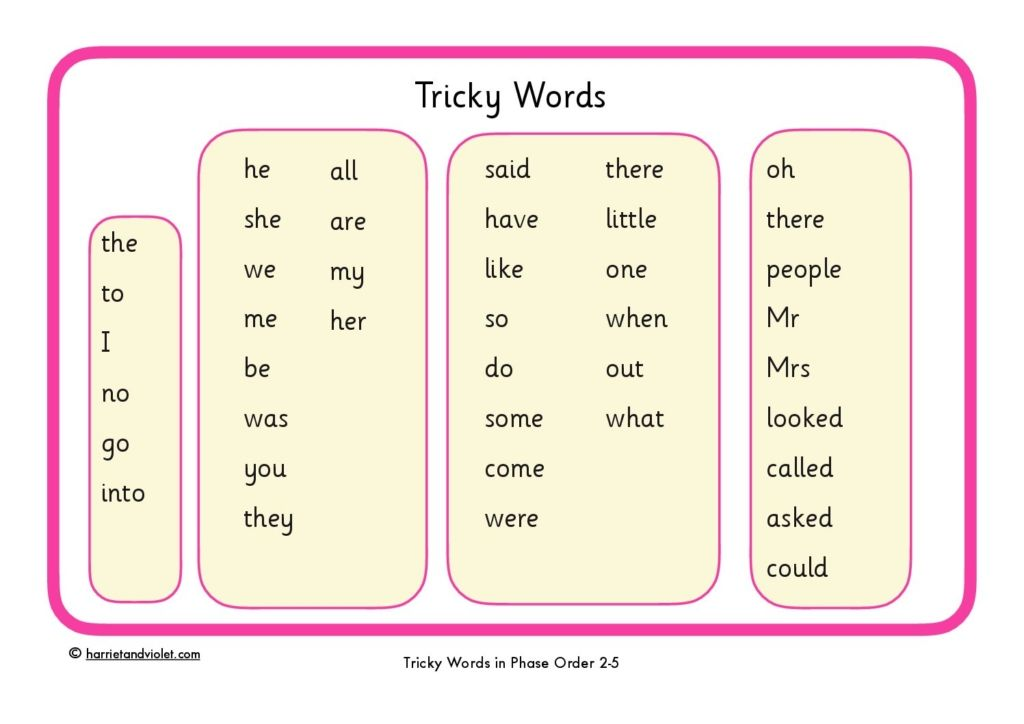 Tricky Word Mat Phase 2 5 Printable Teaching
