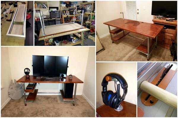 diy computer desk ideas space saving awesome picture - Design Your Own Desk