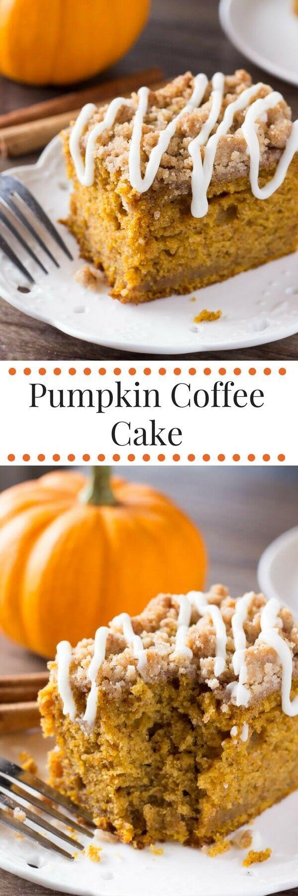 Pumpkin Coffee Cake Recipe Pumpkin coffee cakes
