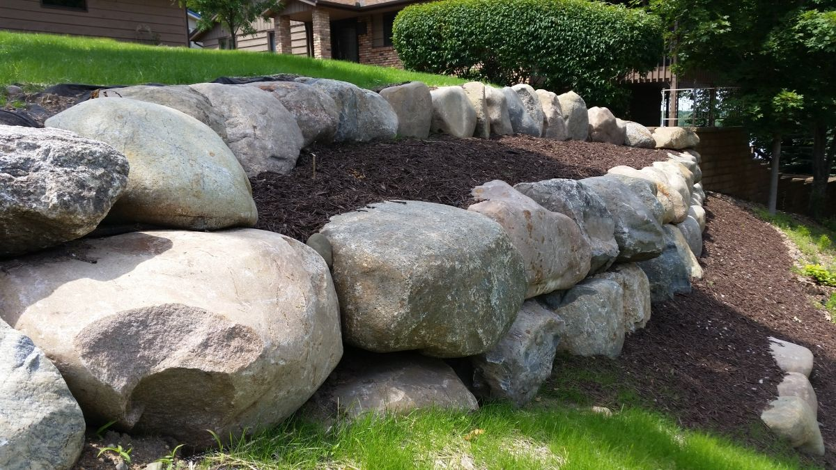 The Patio Retaining Wall Or Retaining Wall In The Garden Has Some Functions Of Great Imp In 2020 Landscaping Retaining Walls Rock Wall Landscape Boulder Retaining Wall