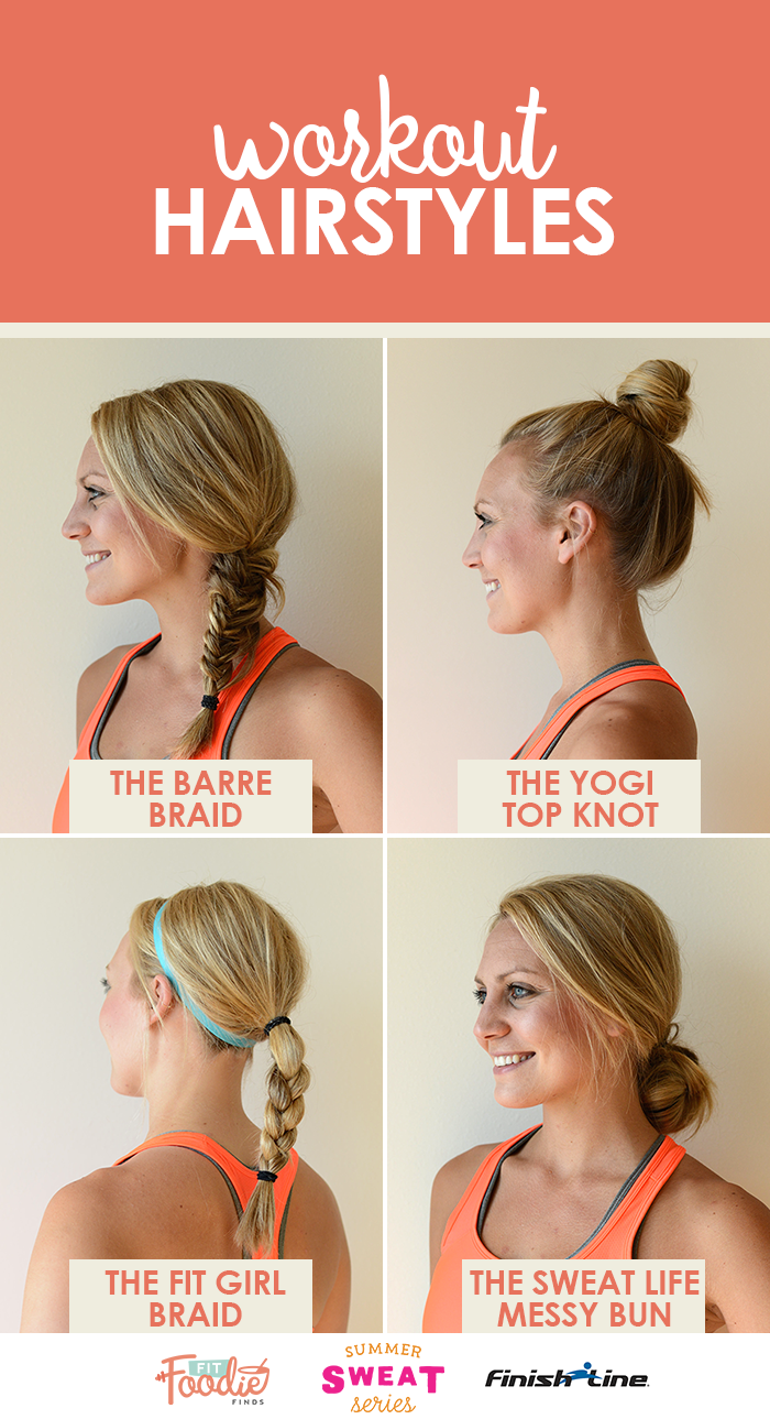 Take your workout hairstyles up a notch and add in some variety