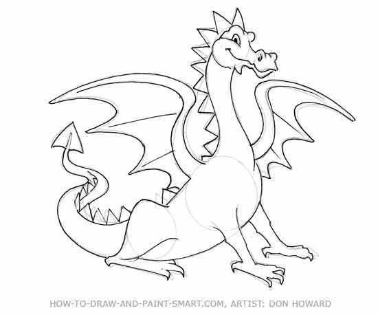 550x458 Easy To Draw Dragons Draw A Dragon Head Dragons In