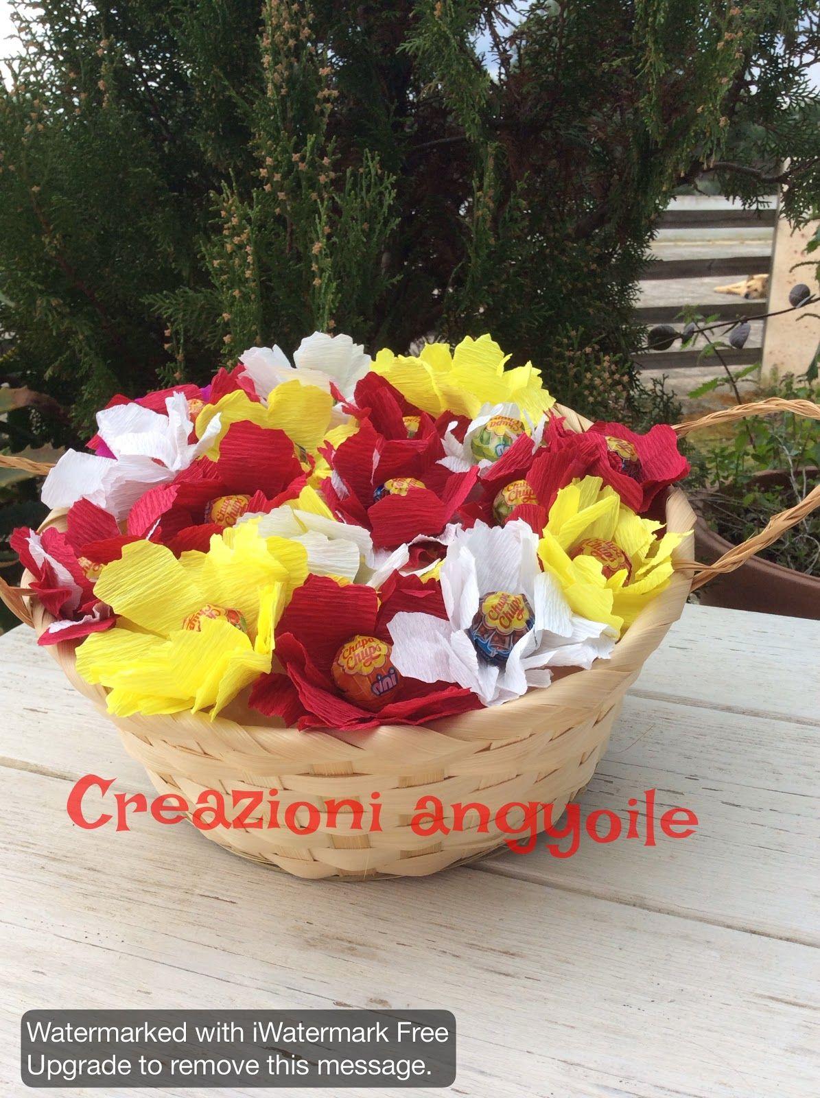 creazioni angyoile: Cestino di fiorellini golosi
