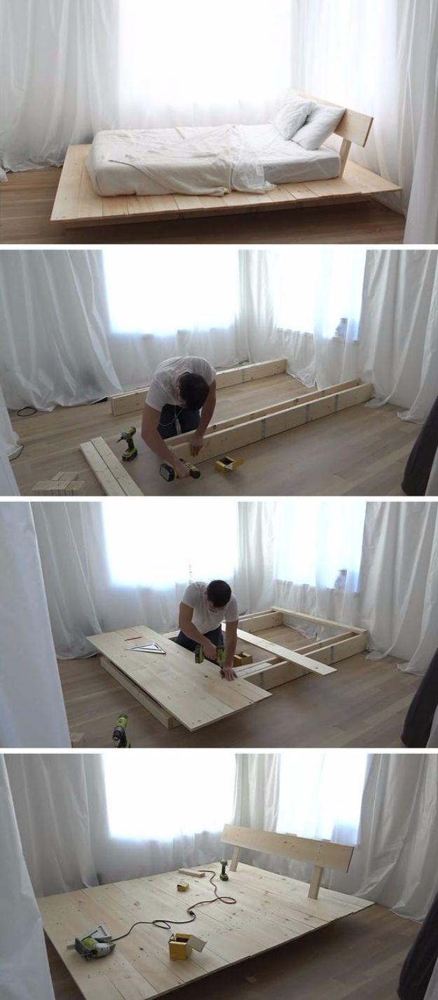 35 DIY Platform Beds For An Impressive Bedroom - Bett ideen -  35 DIY Platform Beds For An Impressive Bedroom  The post 35 DIY Platform Beds For An Impressive Bed - #Bedroom #beds #Bett #decoratingideasforthehome #DIY #diykitchenideas #diykitchenprojects #homediycrafts #ideen #IMPRESSIVE #platform