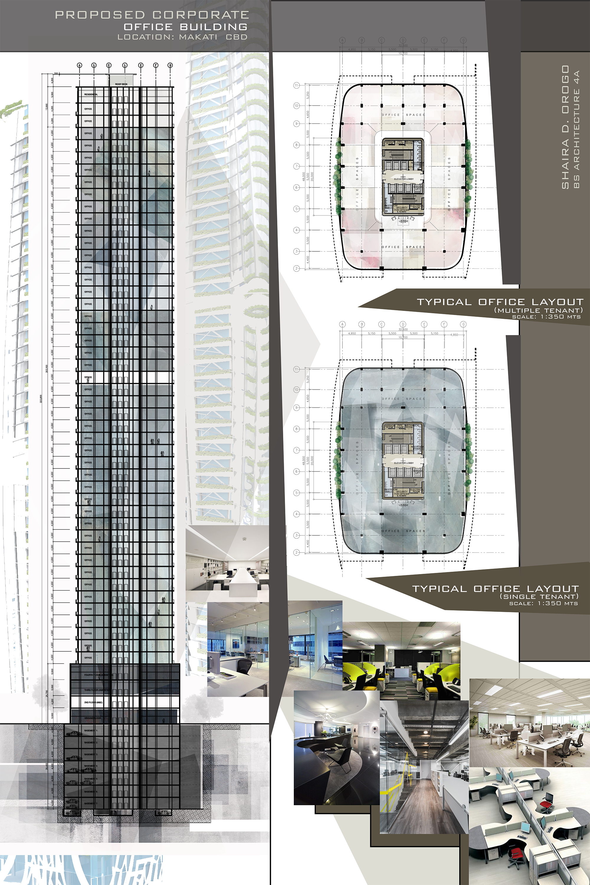 Design 8 / Proposed Corporate Office Building / High-rise Building / Architectural  Layouts /