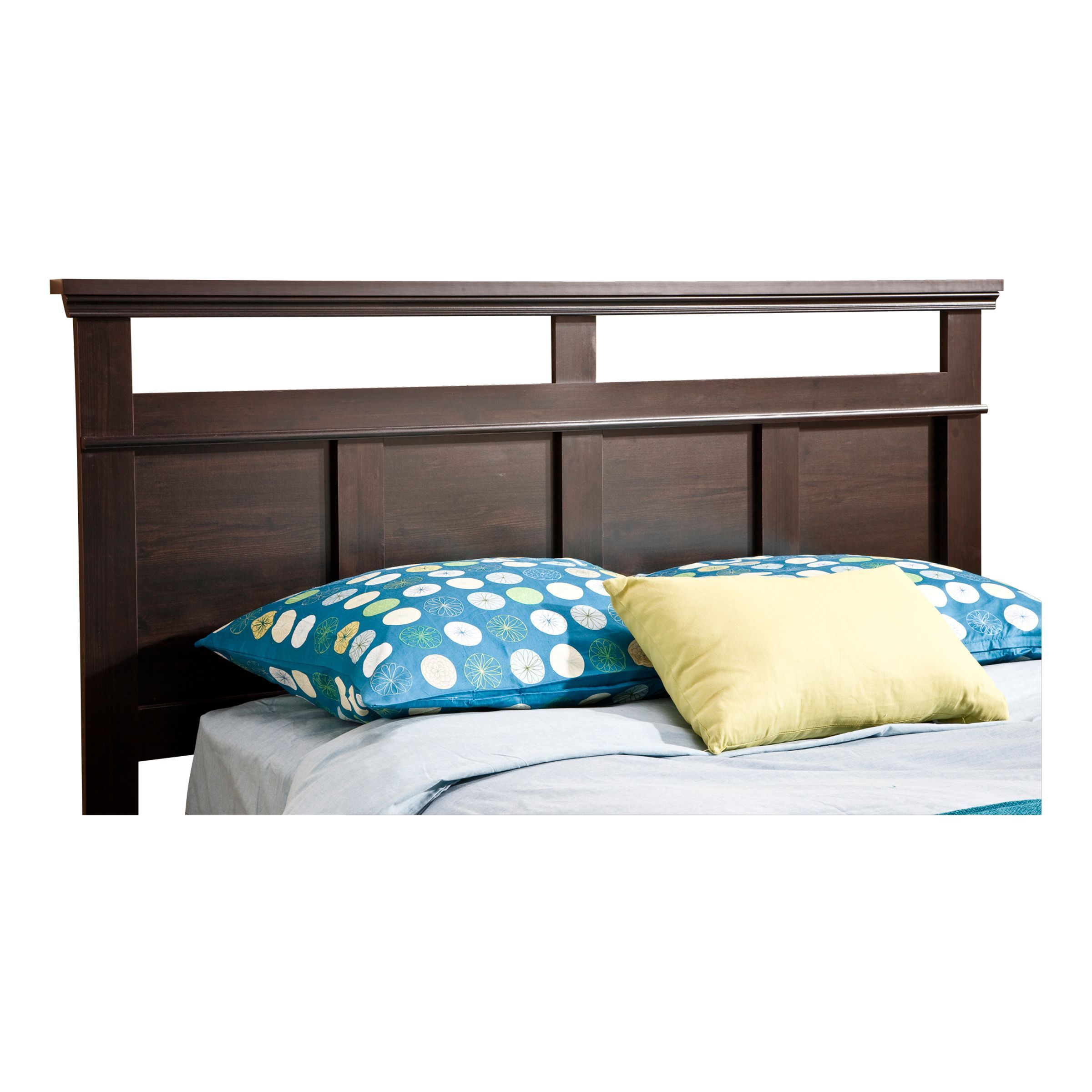 South Shore Versa Collection Full Queen Headboard Ebony Black