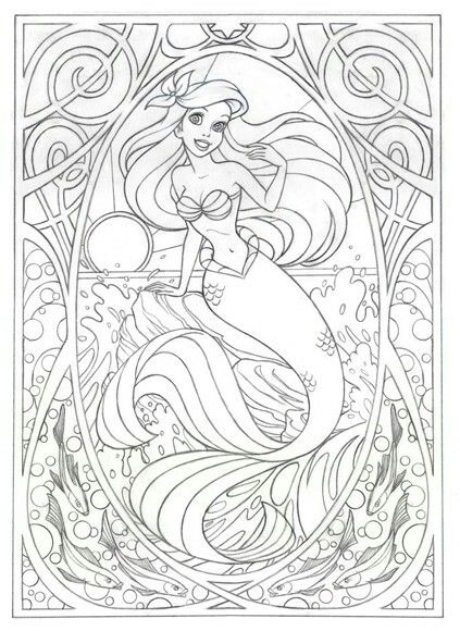 1010+ Coloring Book Little Mermaid Free