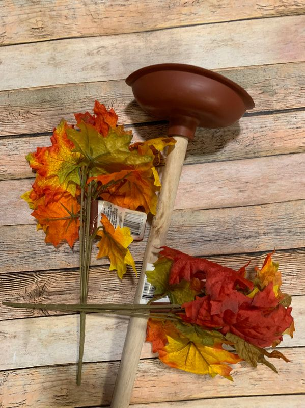 Dollar Tree Toilet Plunger Fall Tree
