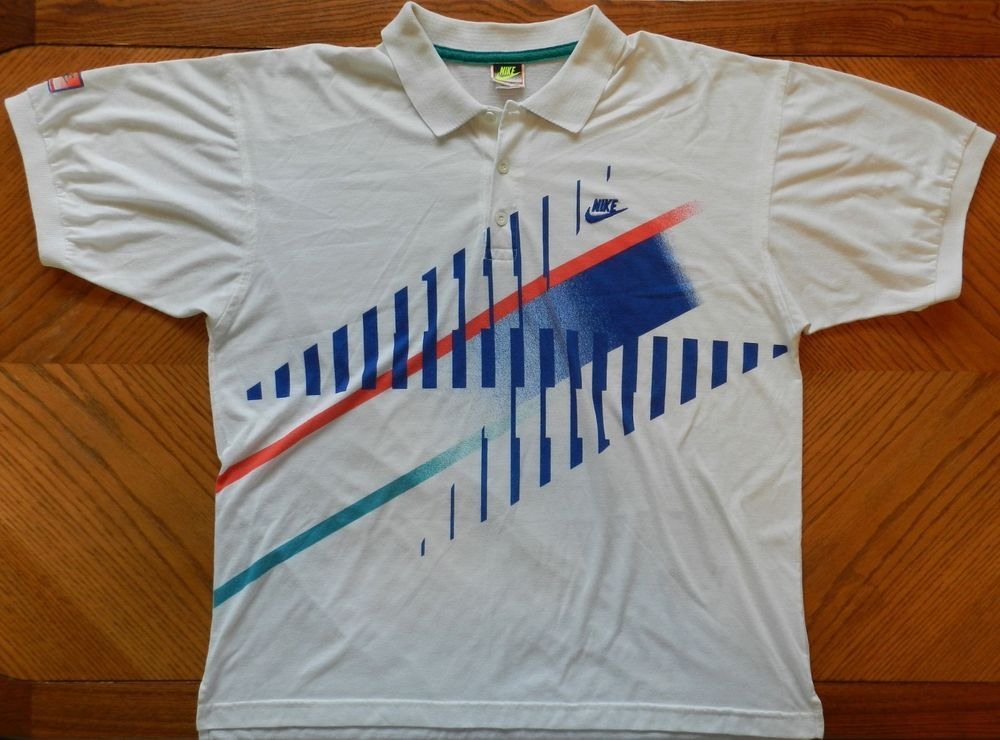 bfa4096cf14aa Details about Vintage 90's NIKE Challenge Court Tennis Agassi ...