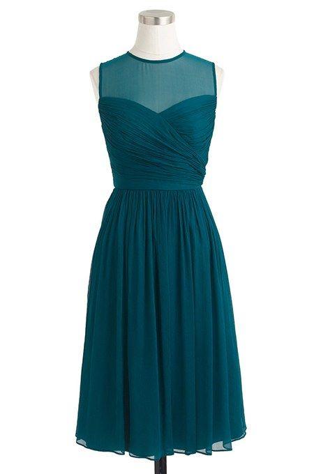 """Clara"" crinkled chiffon cocktail dress, $180, J.Crew"
