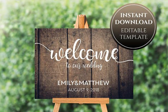 wood welcome wedding sign printable wooden sign wood wedding signs
