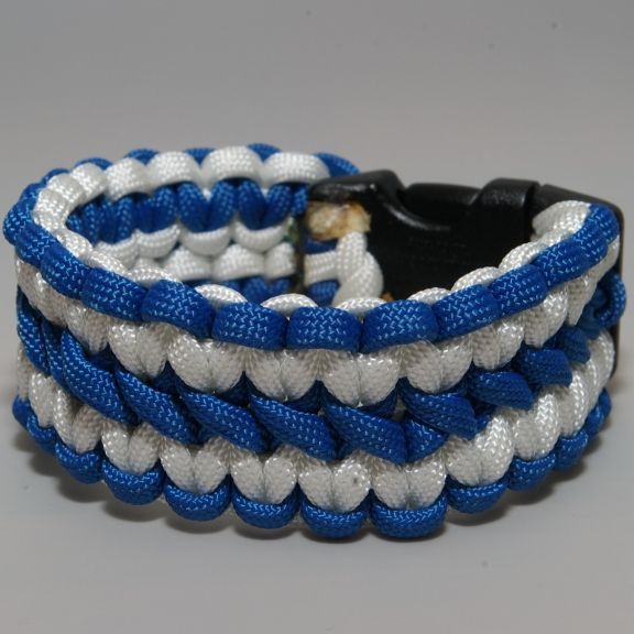 Wide Fishtail Paracord Bracelet With Copper Chain Mail By Tacknots