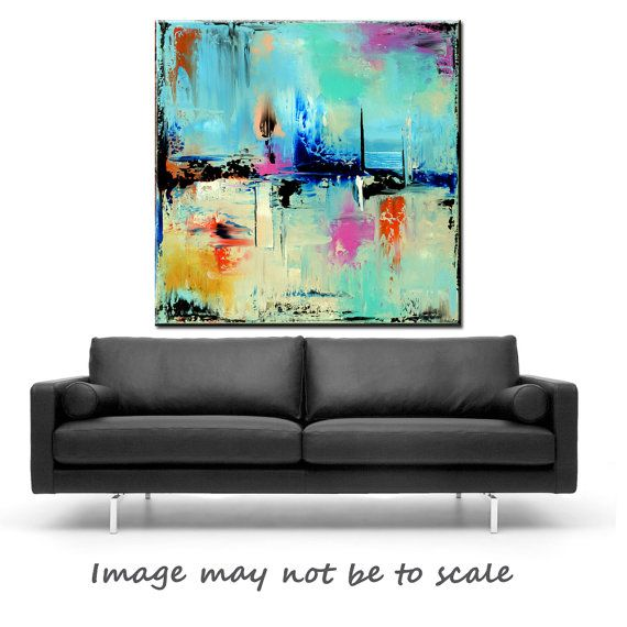 Large ABSTRACT painting Giclee Fine Art by ModernArtHomeDecor