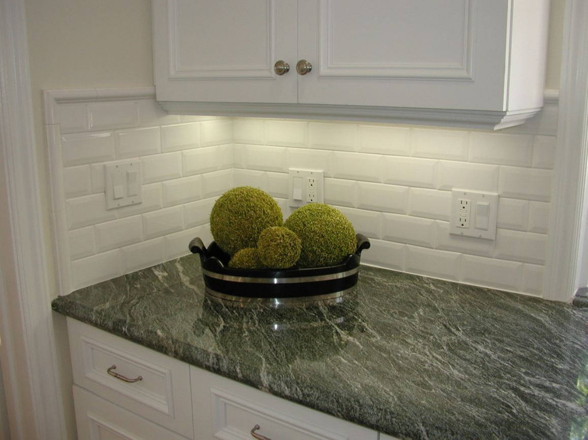 Subway Tile Backsplash Kitchen Ideas With Granite Open Shelving