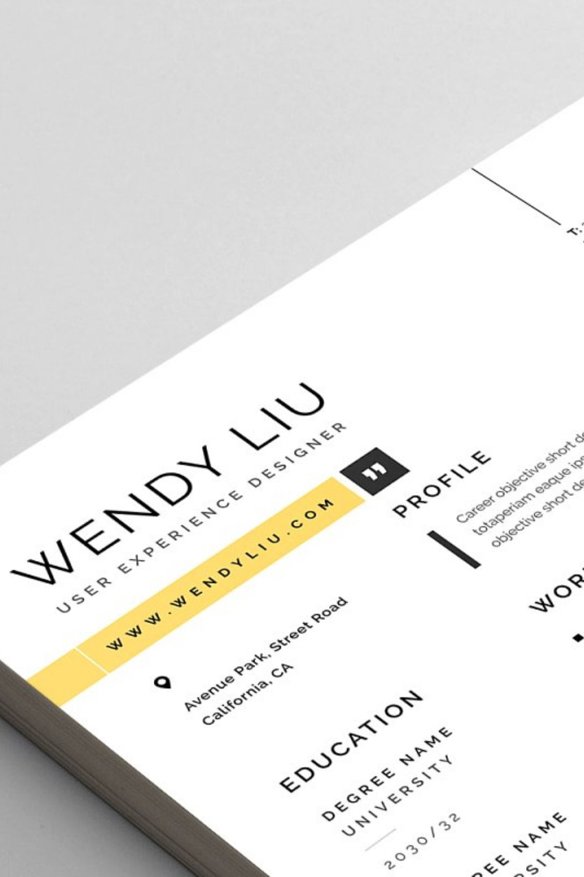 Clean Modern And Professional Resume And Letterhead Design Fully