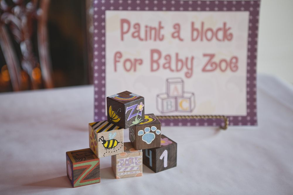 A Simply, Lovely Baby Shower (With images) | Baby blocks ...