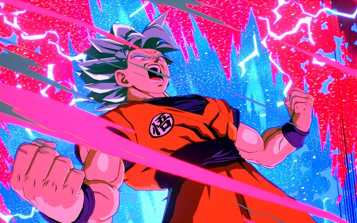 Download Wallpapers 4k Goku Fire Dragon Ball Fighterz Dbzf Dragon Ball Besthqwallpapers Com Dragon Ball Wallpapers Anime Dragon Ball Artwork