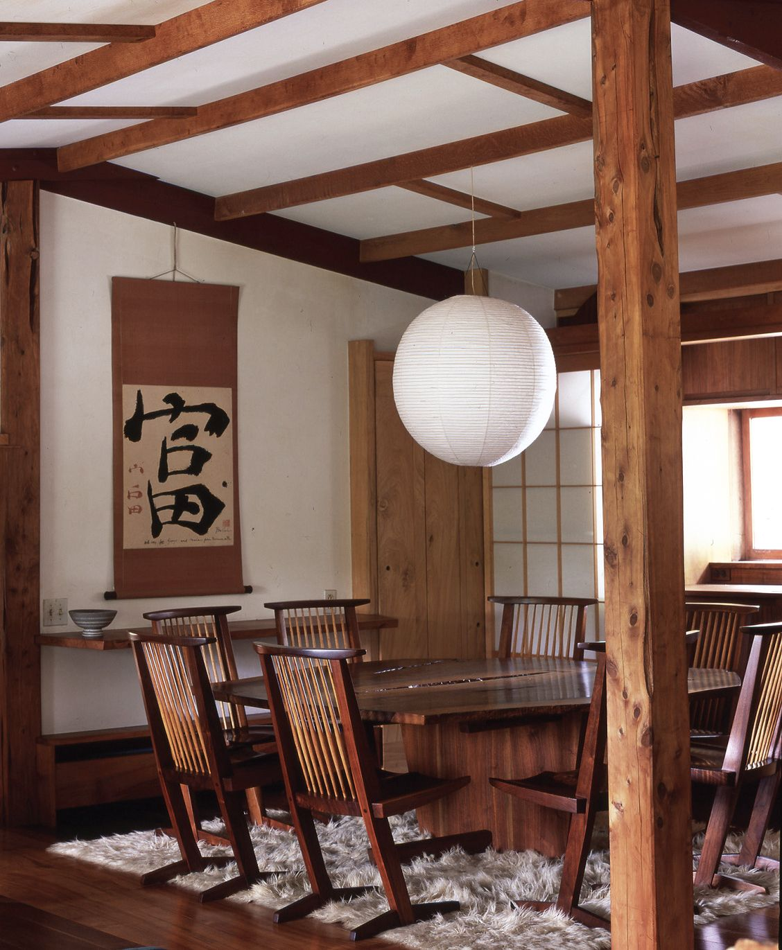 GEORGE NAKASHIMA Interior at the Reception House