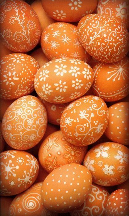 orange et blanc p ques id es pour p ques deco paques. Black Bedroom Furniture Sets. Home Design Ideas