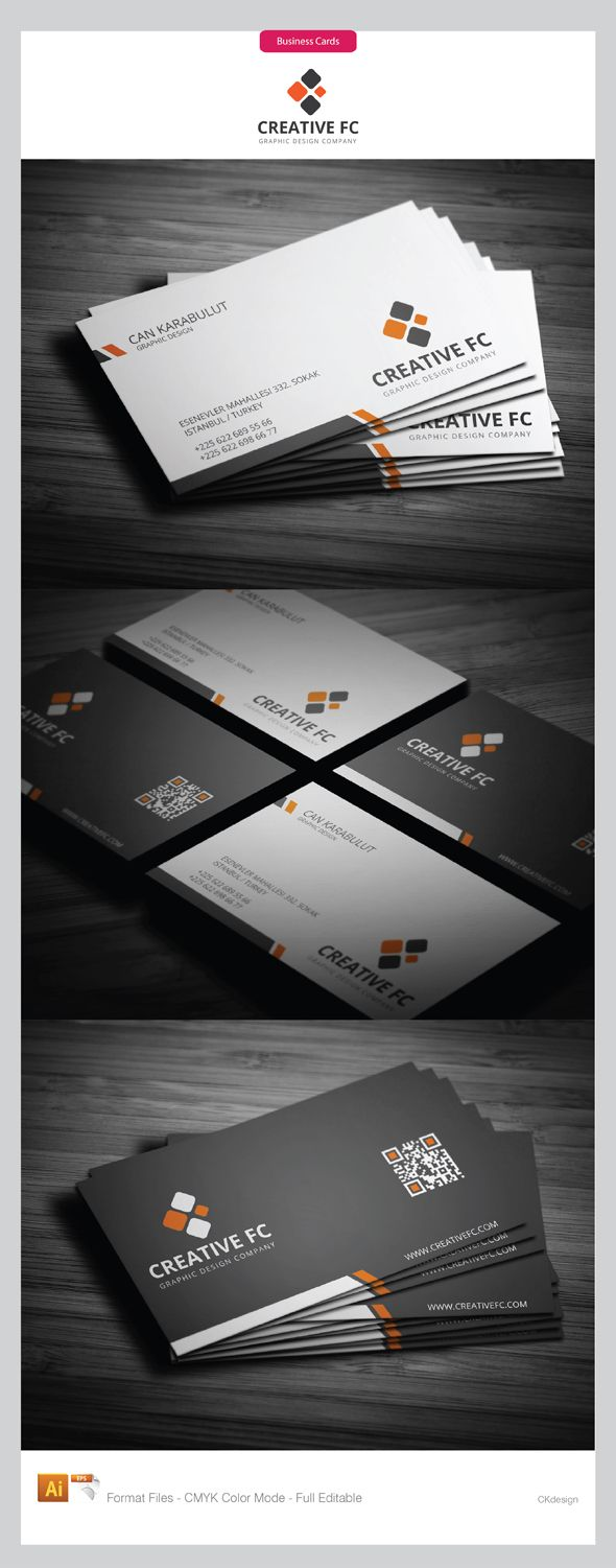 Clean Corporate Business Cards Design, and at the same time simple ...