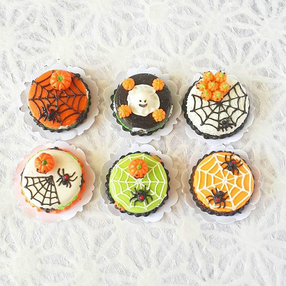 Happy Halloween Cake  Dollhouse Miniatures Food Deco Holiday Season 15