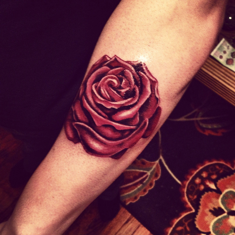 Realistic Red Rose Tattoo Red Tattoos Rose Tattoos Tattoos
