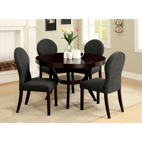 connor transitional dining table  round dining table sets