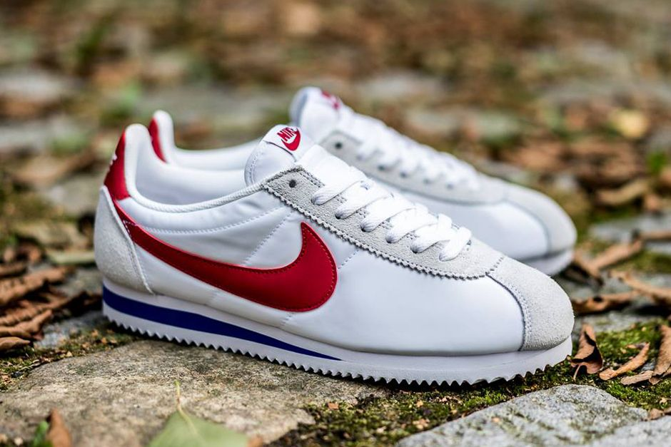 495fd148aaf90f Nike Cortez Nylon In The Familiar Forrest Gump Colors - SneakerNews.com