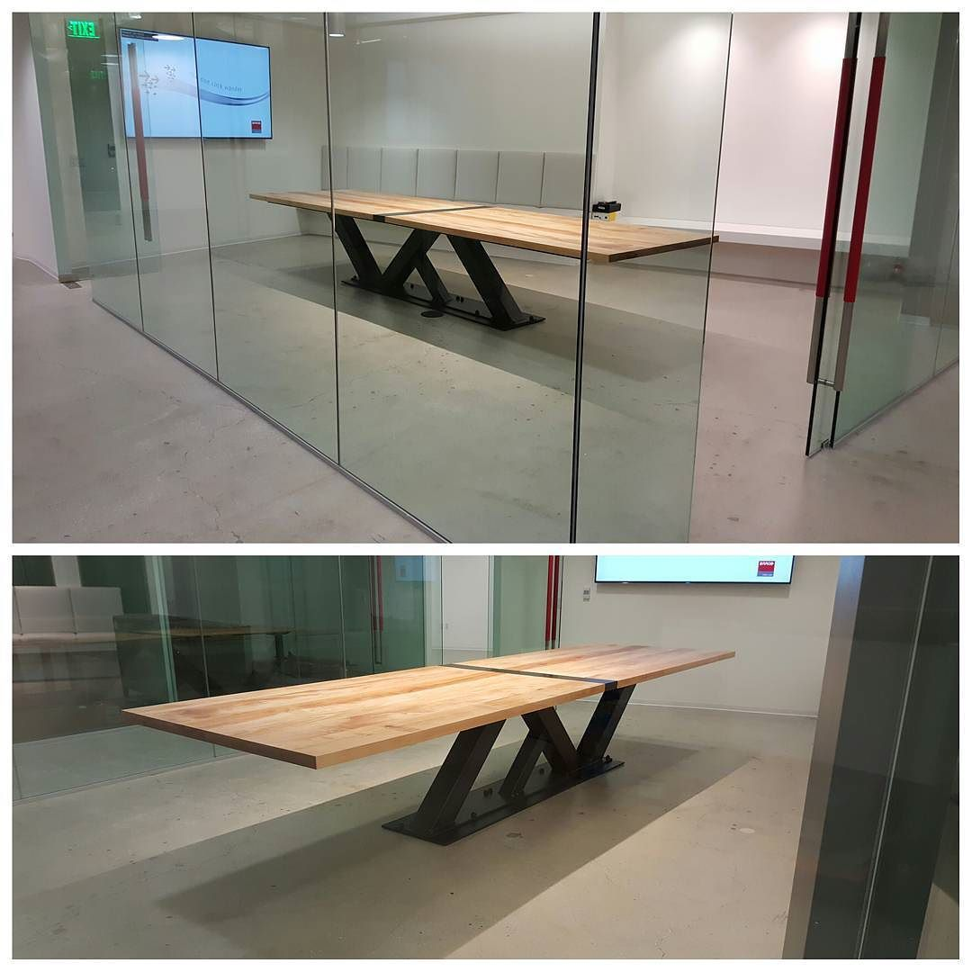 Custom 14u0027 Modern Industrial Conference Table Turned Out Beautiful! Made Of  Steel And 2